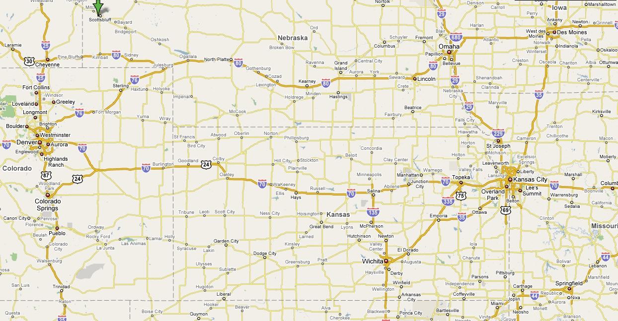 Road Map Of Kansas And Nebraska Arkansas Map