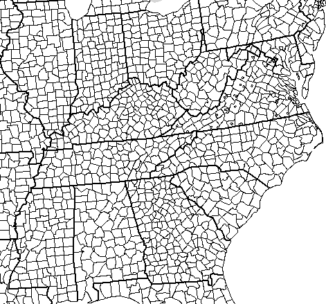 Raymond D Shasteen Genealogy MAPS VIRGINIA SHASTEEN LOCATIONS - East us map with county